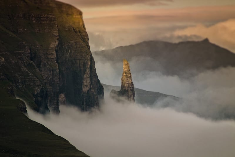 Trøllkonufingur on Vagar in Faroe Islands