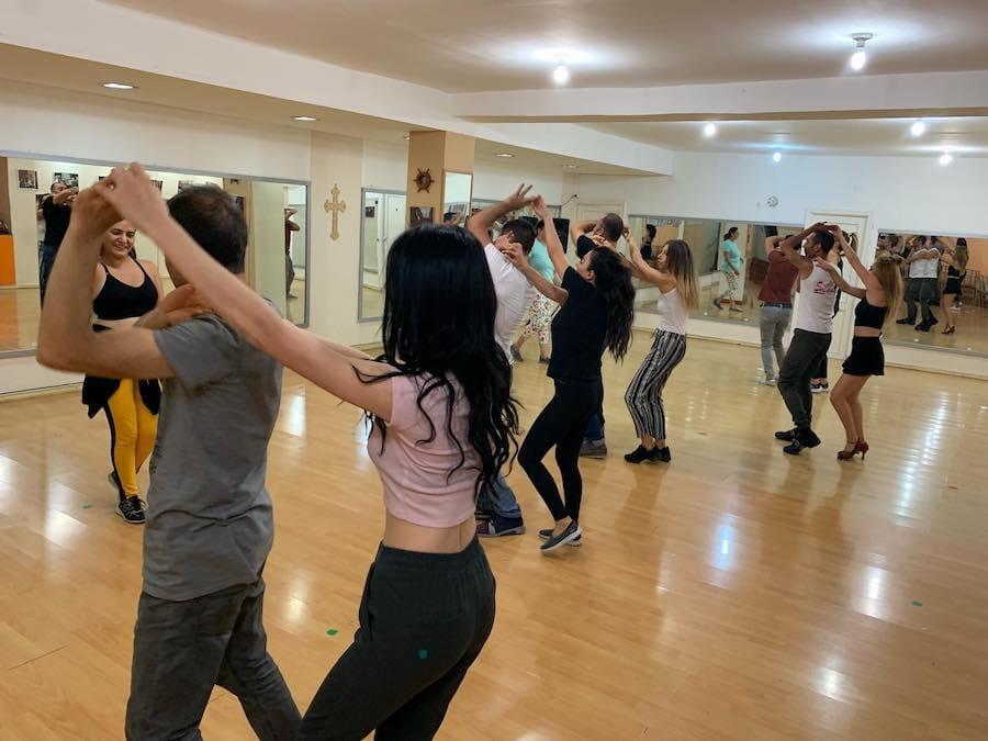 Social dancing in yerevan