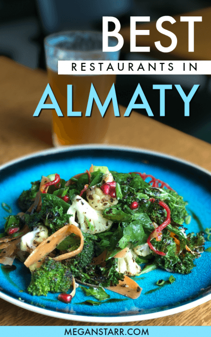 There are many amazing restaurants in Almaty, Kazakhstan. This Almaty restaurant guide details where to eat in Almaty for all types of travelers. It includes places for vegetarians, vegans, meat-lovers, and more. It also includes some of Almaty's most Instagrammable places.