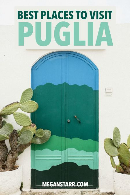 There are so many beautiful and Instagrammable places to visit in Puglia, Italy. This is a guide to stunning places in Puglia that are worth visiting... from Alberobello to Bari to Polignano a Mare and more! #lecce #puglia #iloveitaly #italy #bari #matera #alberobello #travelitaly #polignanoamare