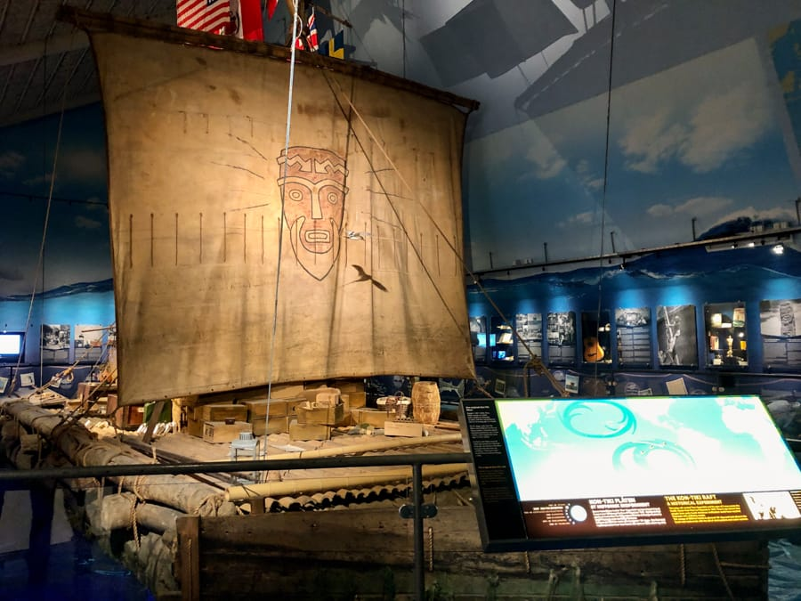 The Kon-tiki Museum on Bygdøy in Oslo is one of the city's best museums and it is free with the Oslo Pass.