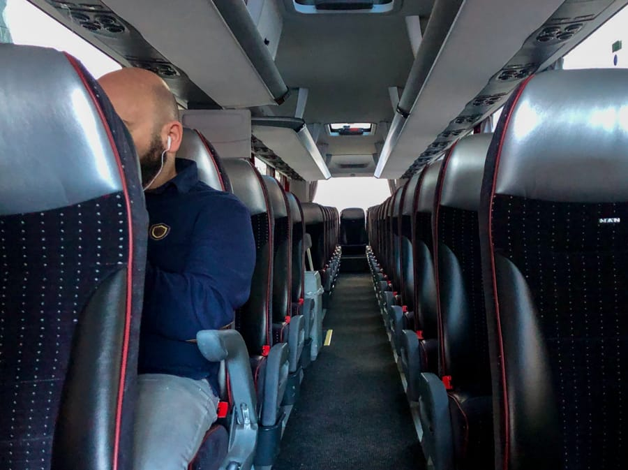 Oslo Discovery Tour review, tips, faq, and more! Inside of the bus