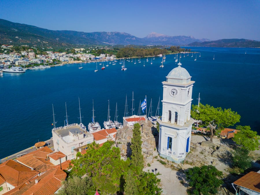 Things to do in Poros, Greece (Saronic Islands): Clock tower in Poros, Greece