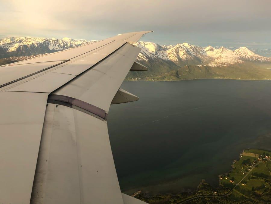 Flying into TromsøNorway
