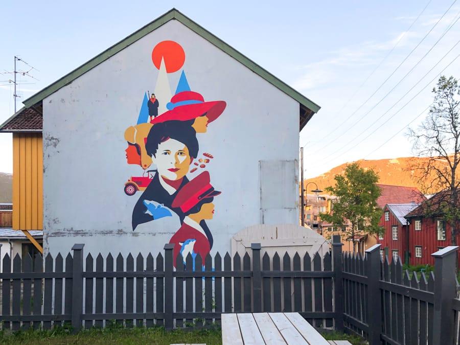 Gorgeous street art in Tromsø Norway
