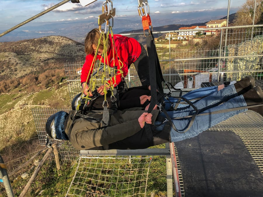 Ziplining in Italy- What to know before you go ziplining in Rome (in Rocca Massima)
