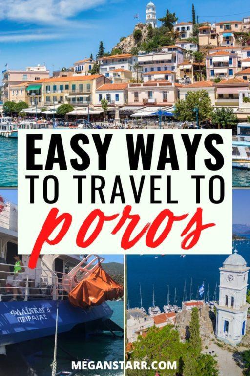 How to get the Athens to Poros Ferry from Piraeus: Saronic Islands Day Trip from Athens | Poros Greece #travel #poros #greece #athens #saronic #saronicislands | Greece Trips | Places Near Athens | Places to Visit in Greece | Athens Day Tours | Tours from Poros | What to do in Poros | What to see in Poros | Poros travel | Poros ferry | Poros Beaches | Poros Restaurants | Where to eat in Poros | Sanctuary of Poseidon | Askeli Beach | Russian Bay | Kanali Beach | Vagionia Bay | Greek Islands travel