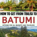 How to get from Tbilisi to Batumi, Georgia (the easy and cheap way!) | Georgia Norway Travel #travel #georgia #batumi #tbilisi #caucasus #trains | Places in Georgia | Visit Caucasus | Georgia Destinations | Things to do in Georgia | Where to Stay in Batumi | Georgia Road trip | Visit Georgia | Batumi | Tbilisi | Caucasus travel guide | Georgia trains | Georgia buses | marshrutka