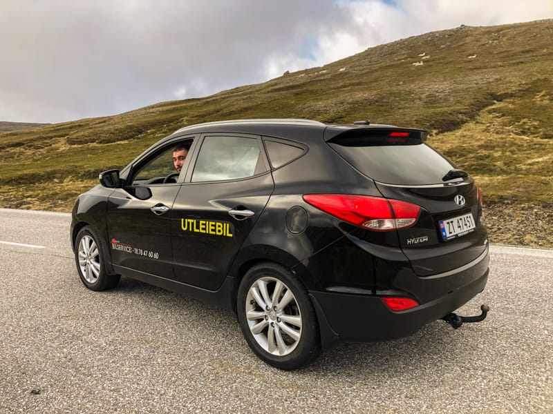rental car in Nordkapp (honningsvag norway)