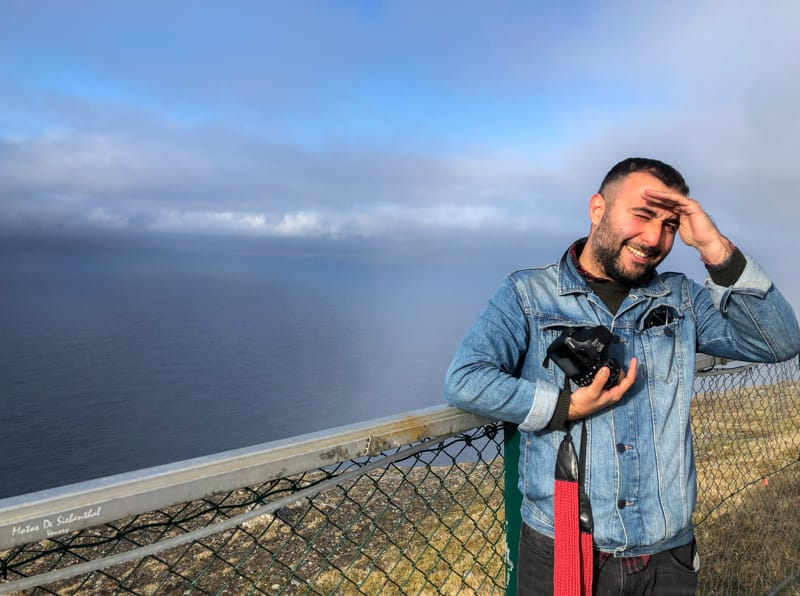 Aram visiting North Cape, Norway (Nordkapp)