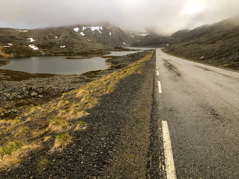 Road on Magerøya (north cape) norway