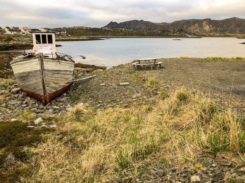 Boat in Gjesvær Norway (a fishing village on Magerøya)