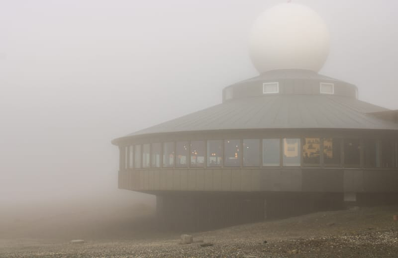 Fog at the North Cape on Magerøya in Norway