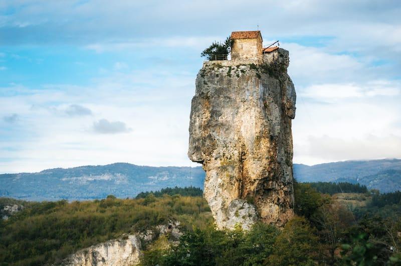 Best places to visit in Georgia: Katskhi Pillar