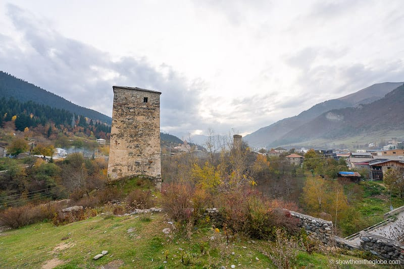 Places to visit in the Caucasus countries: Mestia in Svaneti. Photo by Elaine & David at Show Them the Globe