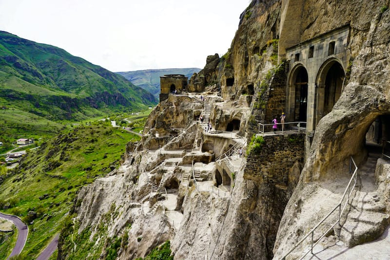 Places to visit in the Caucasus: Vardzia Georgia by Experiencing the Globe
