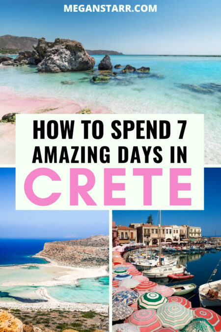 The Ultimate 7 Days in Crete Itinerary for First-Time Travelers | Crete travel #Crete #greece #europe #greekisland | Greece travel | Crete tourism | Crete things to do | Crete tours | Visit Crete | Travel to Crete | Visit Greece | Things to do in Greece | Things to do in Chania | Things to do in Rethymnon | Things to do in Heraklion | Balos Beach | Knossos Palace Minoans | Elafonisi Beach | Crete food | Crete wine | Visit Chania | Chania day trips | Heraklion day trips | Rethymnon day trips
