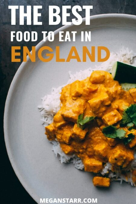 The best food in England (12 must try dishes)   England #travel #british #england #english   England Trips   Food in England   England restaurants   London Food   Things to do in England   English dishes   English cuisine   England food   Visit Kazbegi   Fish and chips   trifle   cornish pasty   pork pie   England photography   bangers and mash   chicken tikka masala   eton mess   sausage roll   full english breakfast