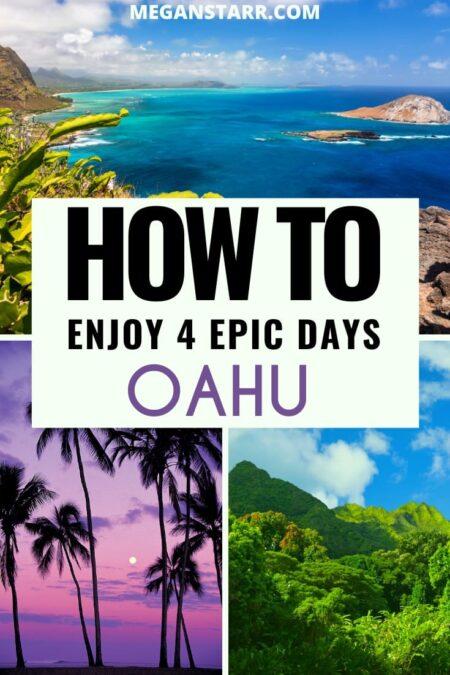 How to spend 4 days on Oahu, Hawaii | Oahu itinerary #travel #Oahu #hawaii #aloha #luau #honolulu #waikiki | Oahu Trip | Visit Oahu | Oahu Travel | Places in Hawaii | Places to visit in Hawaii | What to see in Hawaii | Travel to Oahu | Oahu tours | Oahu Photography | Things to do in Oahu | What to do in Oahu | Places in Oahu | Visit Hawaii | Oahu restaurants | snorkeling oahu | oahu sharks | north shore | oahu turtles | pearl harbor