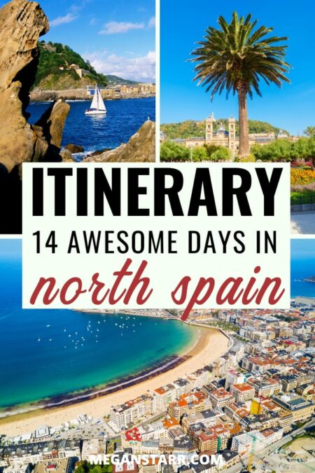 2 Weeks in Northern Spain Itinerary for an Unforgettable Trip | North Spain itinerary #spain #northernspain #itinerary | Itinerary for northern Spain | Spanish road trip | Spain road trip | Things to do in northern Spain | Europe road trips | Camino de Santiago | San Sebastian | Bilbao | Santander | Gijon | Leon | Lugo | Santiago de Compostela | Finisterre | Biarritz France | A Coruna | Places to visit in Spain | Spanish cities | Visit Spain | Travel to Spain