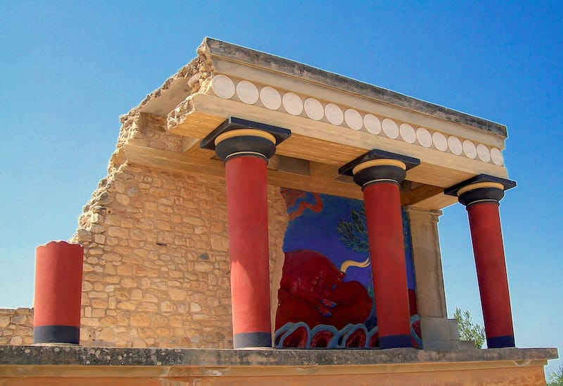 Knossos Palace Minoans in Crete Greece