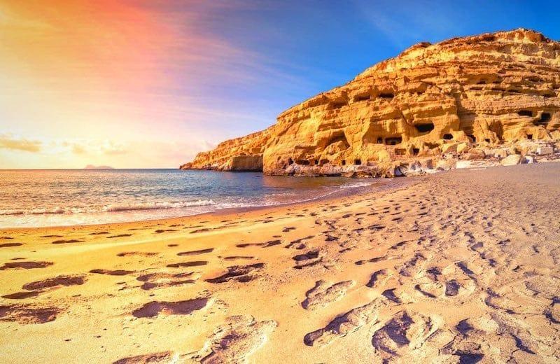 Matala Beach in Crete: Amazing Attractions in Crete