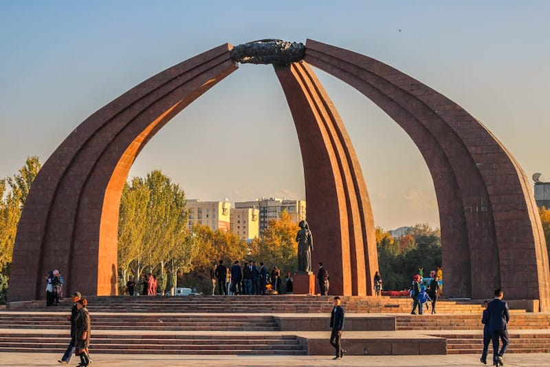 Places for a Central Asia itinerary: Bishkek Kyrgyzstan