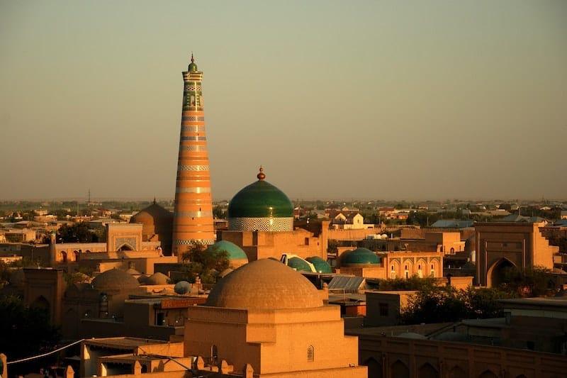 Central Asia cities: Khiva in Uzbekistan