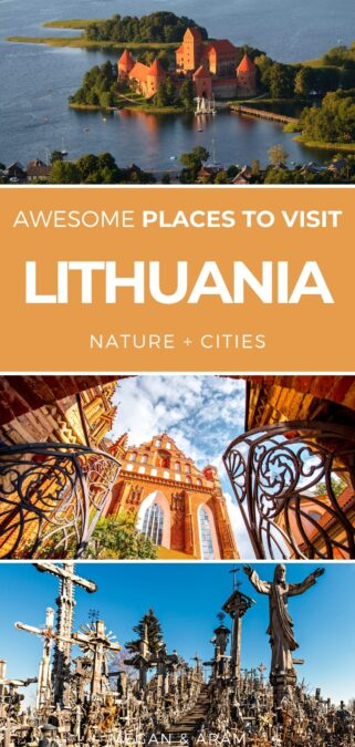 10 Historic and Beautiful Places to Visit in Lithuania | Places in Lithuania #lithuania #vilnius #klaipeda #kaunas #hillofcrosses | Visit Lithuania | Trip to Lithuania | Lithuania travel | Visit Vilnius | Things to do in Lithuania | Where to go in Lithuania | Lithuania itinerary | Baltics itinerary | Lithuania cities | Lithuania places | Curonian Spit | Nida | Hill of crosses Lithuania