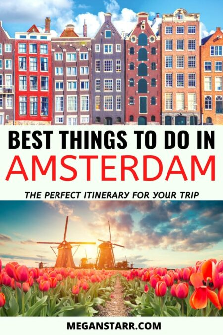4 Days in Amsterdam Itinerary: Things to Do + Map | Travel Amsterdam | Visit Amsterdam | Itinerary for Amsterdam | Netherlands | Europe itinerary | Things to do in Amsterdam | What to do in Amsterdam | Amsterdam bars | Amsterdam restaurants | Places to visit in Amsterdam | Visit Holland | What to see in Amsterdam