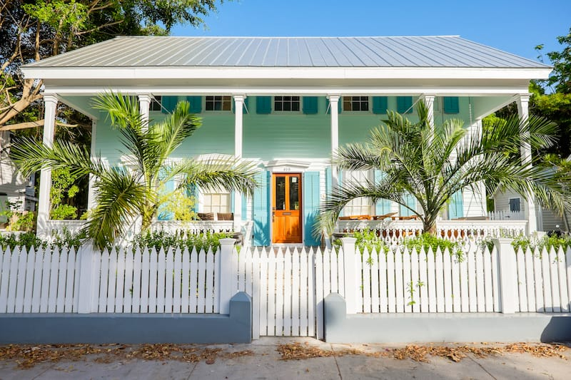 A beautifully restored vintage home in the residential Historic District of Key West