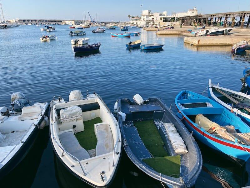 Harbor in Bari