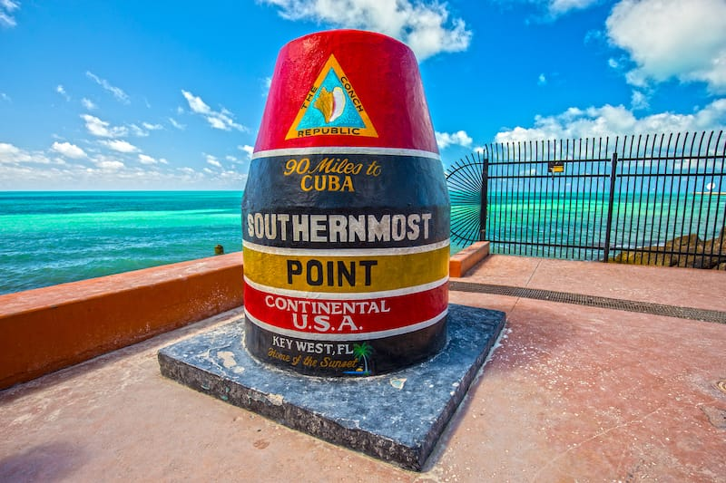 Key West in December: Southernmost point in continental. 90 miles to Cuba. Home of the Sunset. Key West