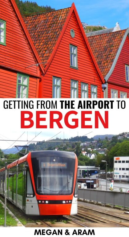 Seeking options for getting from the Bergen Airport to city? This guide details 5 options to get from the Bergen Airport to city center (include budget options!) | Things to do in Bergen | Bergen tips | Travel to Bergen | Visit Norway | Visit Bergen | Bergen travel guide | Bergen Norway | Flesland Airport