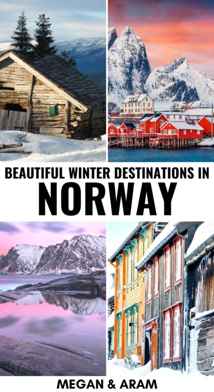 Considering a trip to Norway in winter? This guide will walk you through the best places to visit in Norway in winter and tell you the pros and cons of each. Tromsø excluded! | Places to visit in Norway | Norway in winter | Norway winter trips | Norway winter destinations | Tromsø | Lofoten Islands | Bergen | Oslo | Northern lights in Norway | Where to see the northern lights in Norway | Visit Norway | Winter in Norway | Christmas in Norway | Norway in December | Norway destinations | Norway nature