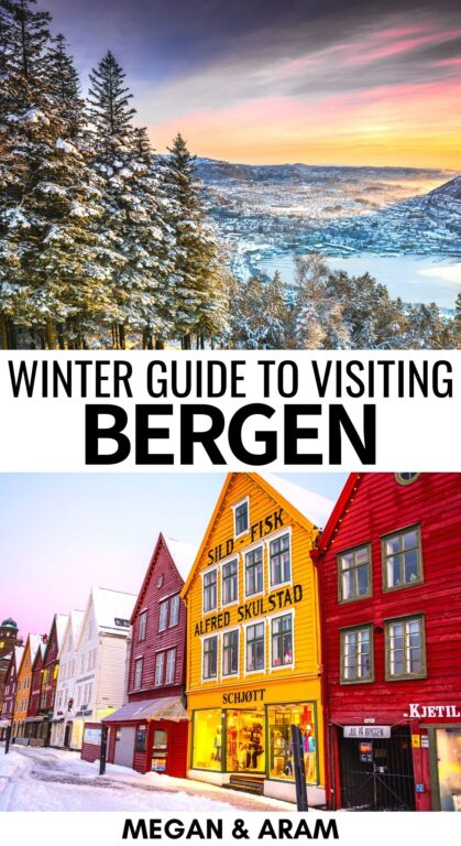 14 Things to do in Bergen in Winter (Norway): This is a winter in Bergen travel guide for those visiting Norway's second city. | Things to do in Bergen | Winter in Norway | Bergen winter | Norway fjords | Scandinavia winter | What to see in Bergen | Pepperkakebyen | Edvard Grieg | Bergen food | Christmas in Bergen | Christmas in Norway | Visit Bergen