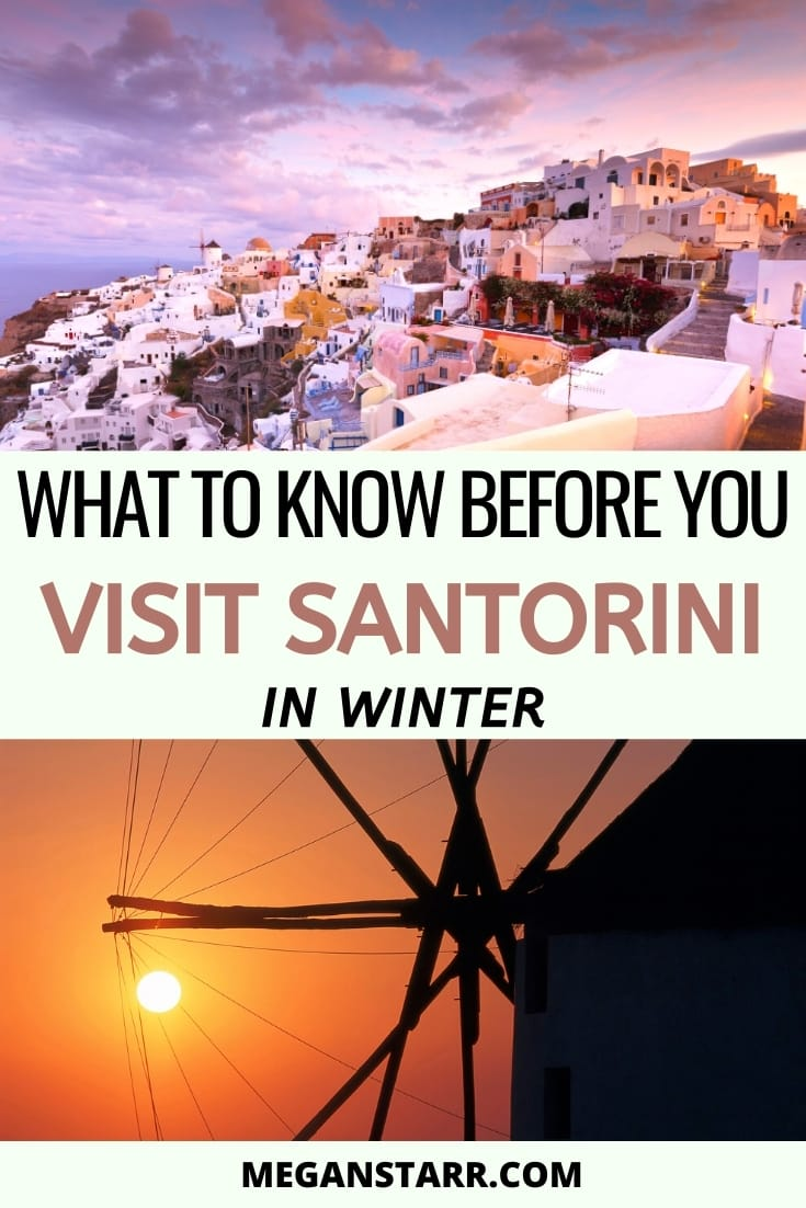 Santorini in winter- is it worth it? Things to do in Santorini during winter. #santorini #greece #greekislands | Things to do in Santorini | Santorini winter | Santorini December | Santorini January | Santorini February | What to do in Santorini | Visit Santorini | Travel to Santorini | Christmas in Santorini | Santorini new years | Places to visit in Greece