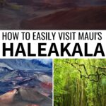 Are you planning to visit Haleakala National Park on Maui? This guide will give you all the Haleakala travel tips you need to see the epic Haleakala sunrise and sights in the US National Park. | What to see Haleakala | Visiting Haleakala | Haleakala crater | Haleakala summit | Haleakala tours | Things to do in Maui | Visit Maui | Haleakala photography | Haleakala hiking | Haleakala observatory | Maui volcano | Maui waterfalls | Kula Maui