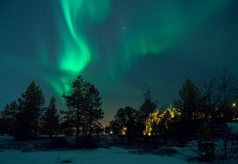 Alta in winter in Norway