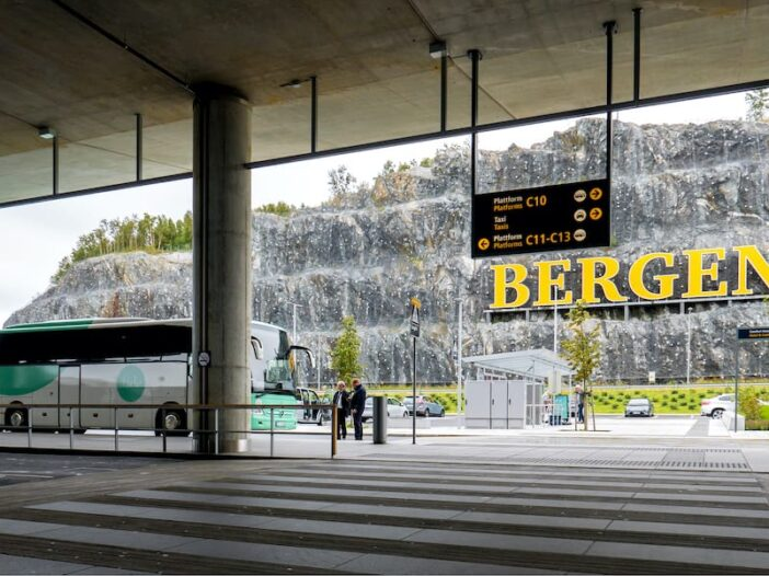 Arrival at Bergen Airport in Norway