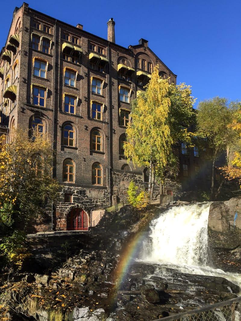 Oslo waterfall during autumn