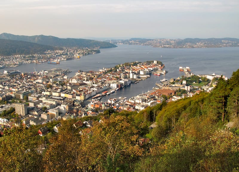 Bergen during fall (Norway)