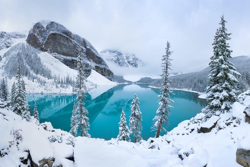 Banff in winter under snow