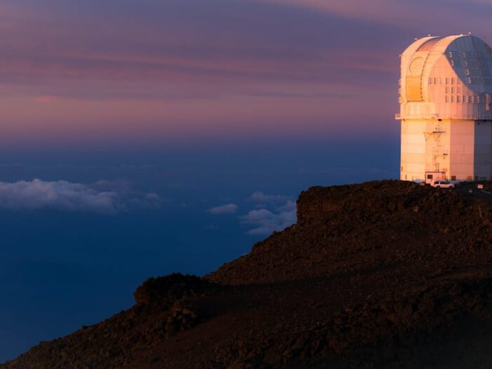 Beautiful Sunrise at Haleakala Observatory