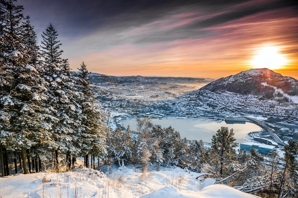 Bergen in winter travel guide