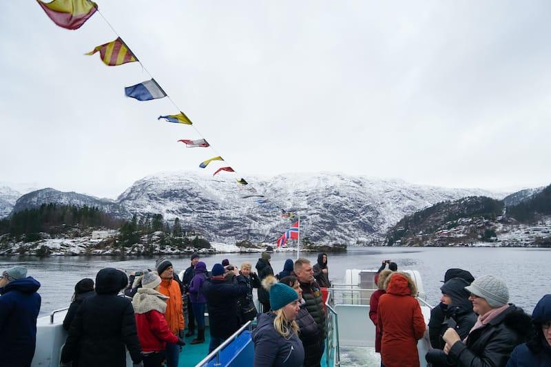 Bergen winter fjord tour in Norway