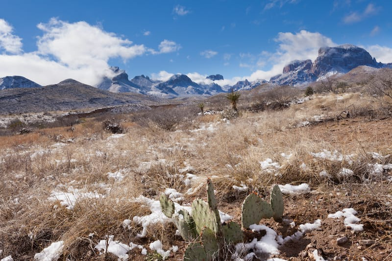 Big Bend National Park in Texas in winter