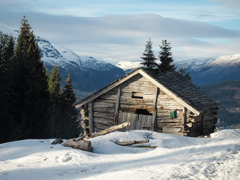 Cabin in Voss Norway in winter