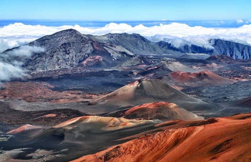 Caldera of the Haleakala volcano
