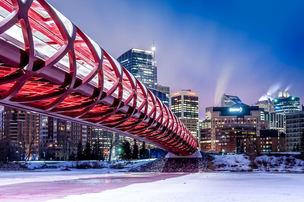 Calgary in winter in Canada